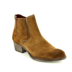 Tamaris Boots - Ankle - Brown suede or snake - 25341/319 GENOVA