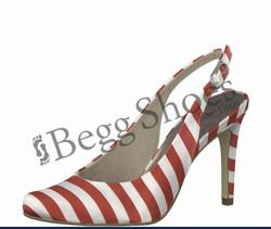 Tamaris Heeled Shoes - White-red combi - 29614/30692 JOLIE