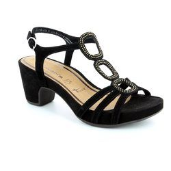Tamaris Heeled Sandals - Black - 28397/001 JULE