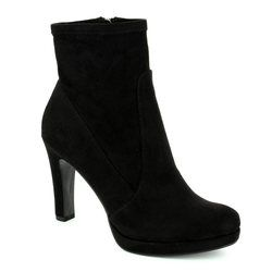 Tamaris Boots - Ankle - Black suede or snake - 25365/001 LYCROBLING