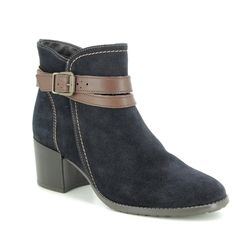 Tamaris Boots - Ankle - Navy Suede - 25059/23/831 PAULA