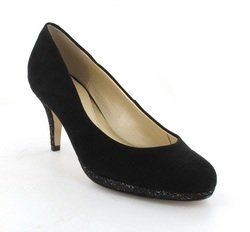 Van Dal Heeled Shoes - Black suede - 2095/130D FILBY