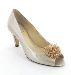 Van Dal Heeled Shoes - Oyster Pearl Patent - 1818/810D HOLKHAM