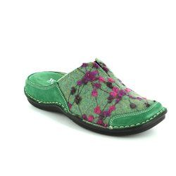 Walk in the City Slippers & Mules - Green multi - 4988/32010 LAGOTO