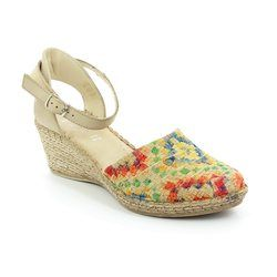 Walk in the City Espadrilles - Beige - floral - 8103/18550 MOSAIC