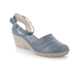 Walk in the City Wedge Shoes  - Navy - 8103/18550 MOSEL 81