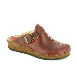 Walk in the City Slippers & Mules - Dark Red - 1124/16960 SULICRO
