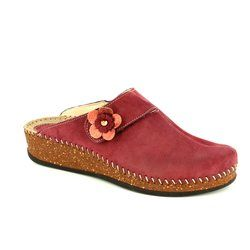 Walk in the City Slippers & Mules - Dark Red - 1124/16970 SULIFLO