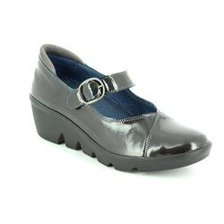 Walk in the City Comfort Shoes - Black patent - 1111/37270 YABA