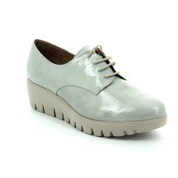 Wonders Comfort Lacing Shoes - Light grey patent - C3370/00 FLYMORE