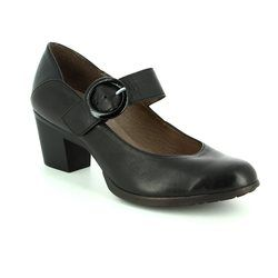 Wonders Court Shoes - Black patent - G4701/30 HEXBAR