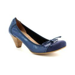 Wonders Heeled Shoes - Navy patent-suede - I8391/70 IGUANA