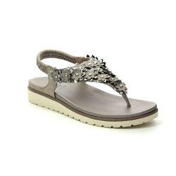XTI Flat Sandals - Metallic - 04887604 DELIATI