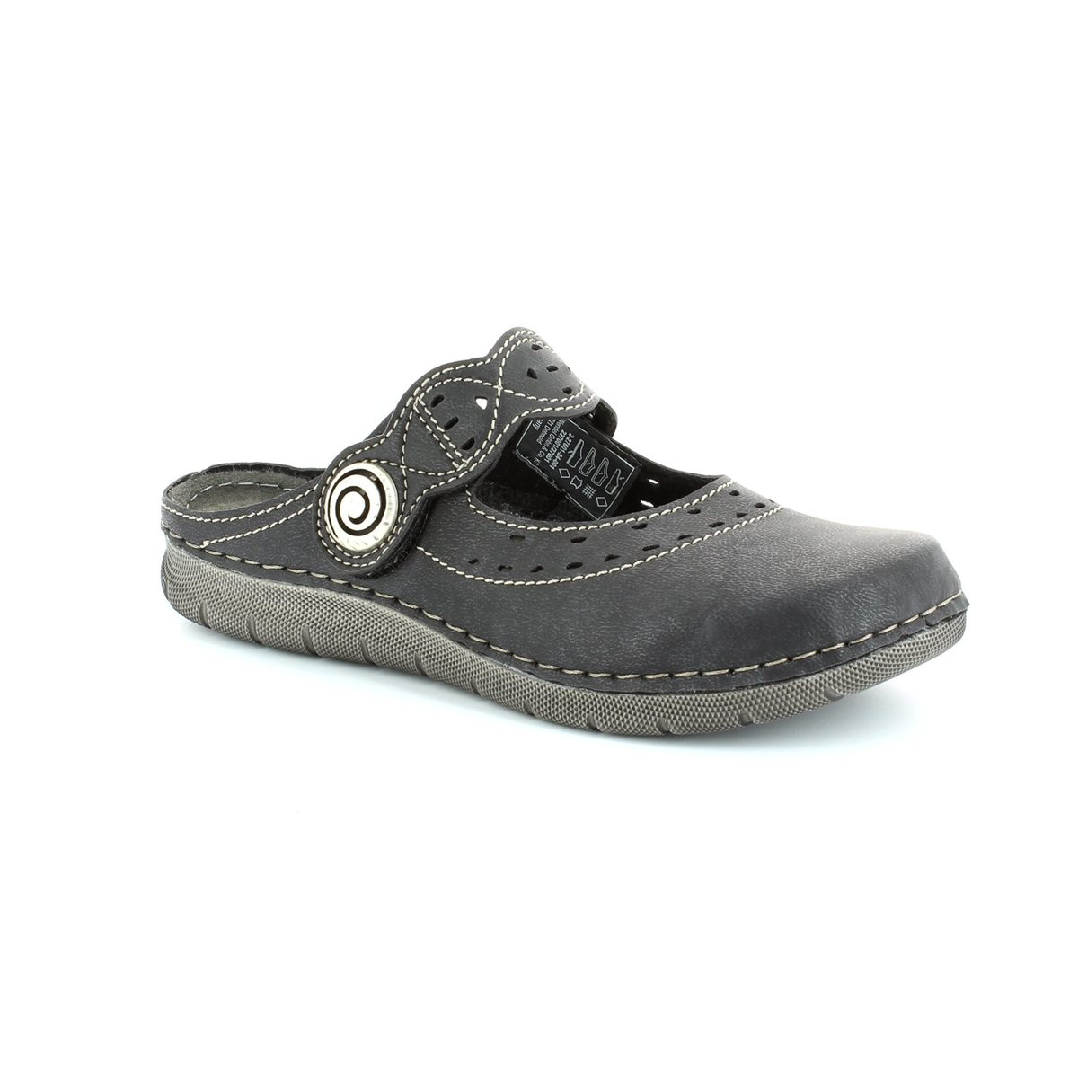 marco tozzi hannah 27601 001 black slipper mules