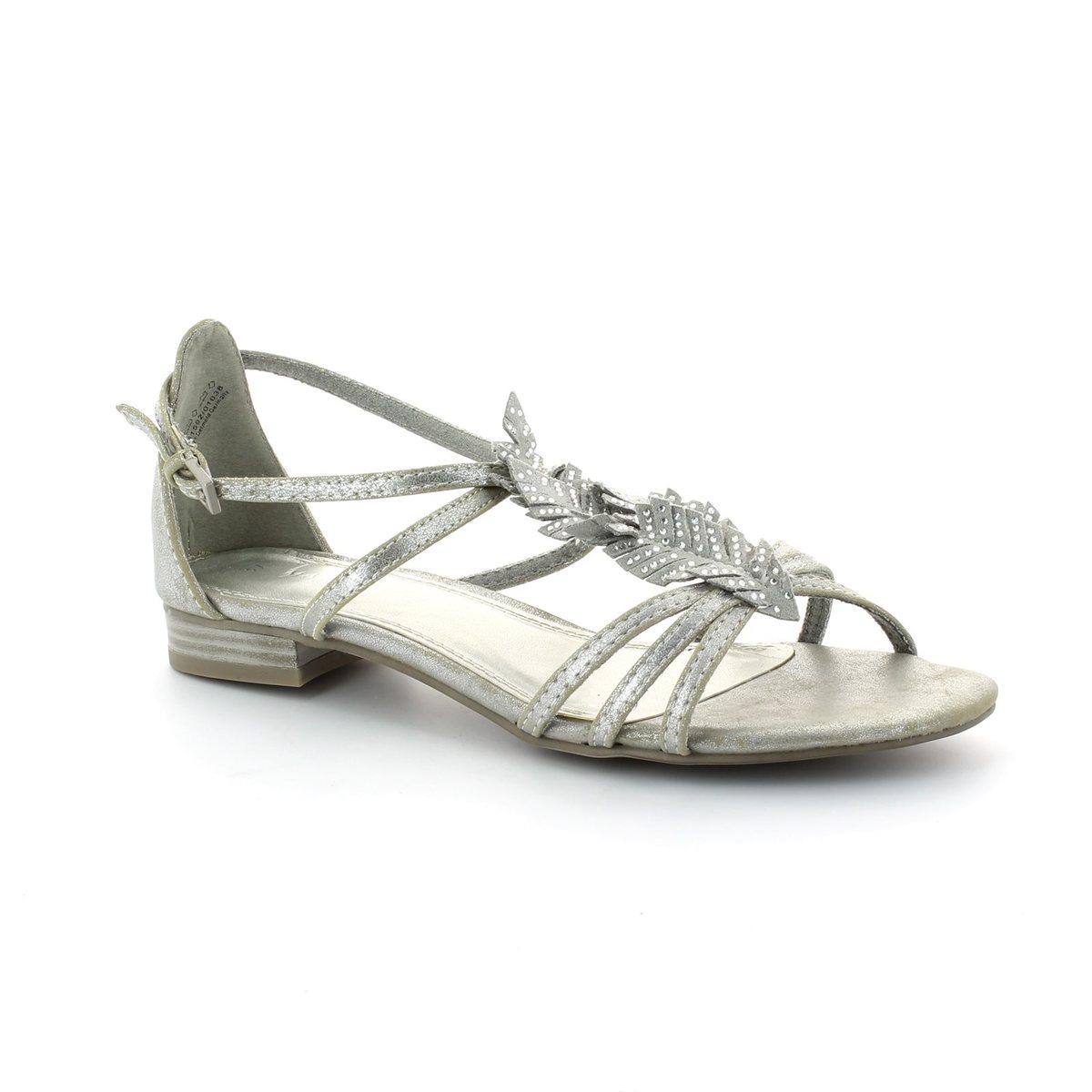 marco tozzi leaf 28100 926 silver sandals. Black Bedroom Furniture Sets. Home Design Ideas
