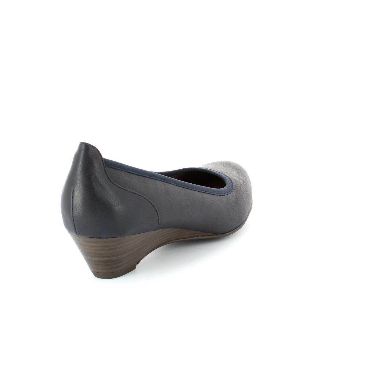 tamaris 22304 805 navy heeled shoes. Black Bedroom Furniture Sets. Home Design Ideas