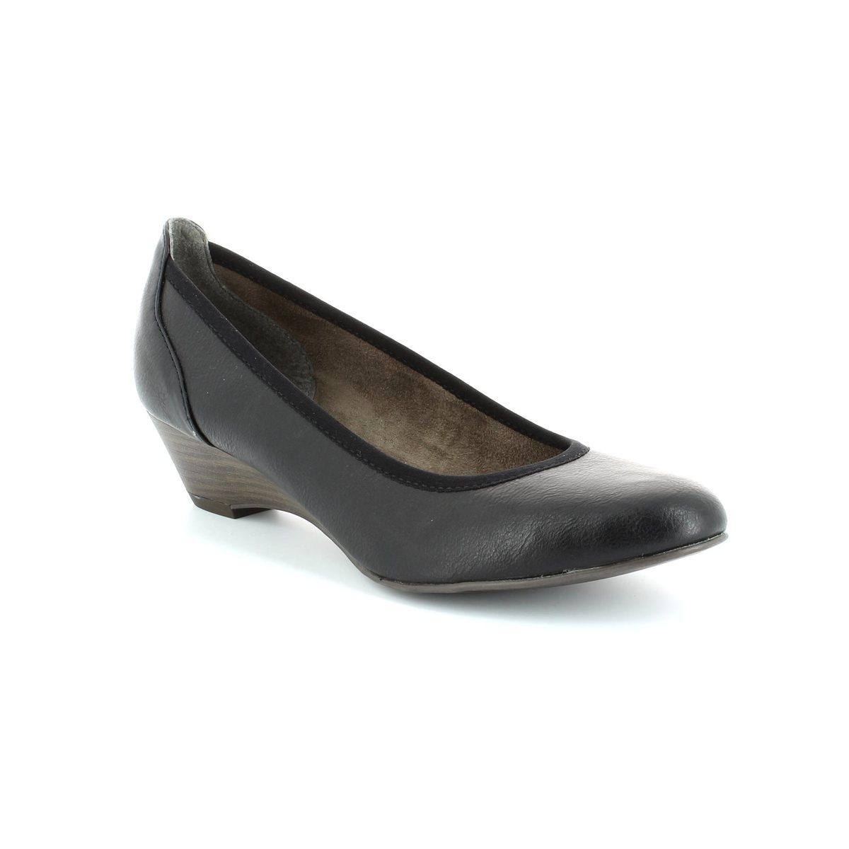 tamaris quiver 22304 001 black heeled shoes. Black Bedroom Furniture Sets. Home Design Ideas
