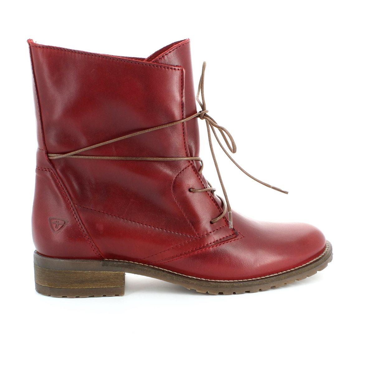 tamaris brit 25262 501 red ankle boots. Black Bedroom Furniture Sets. Home Design Ideas