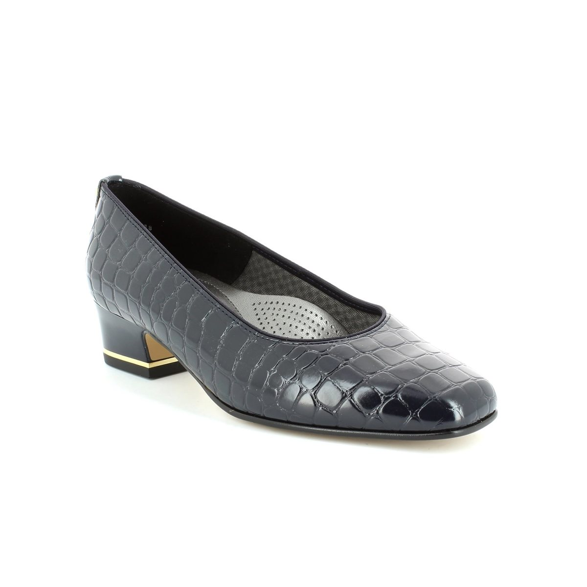 Freed Of London Black Croc Dance Shoe