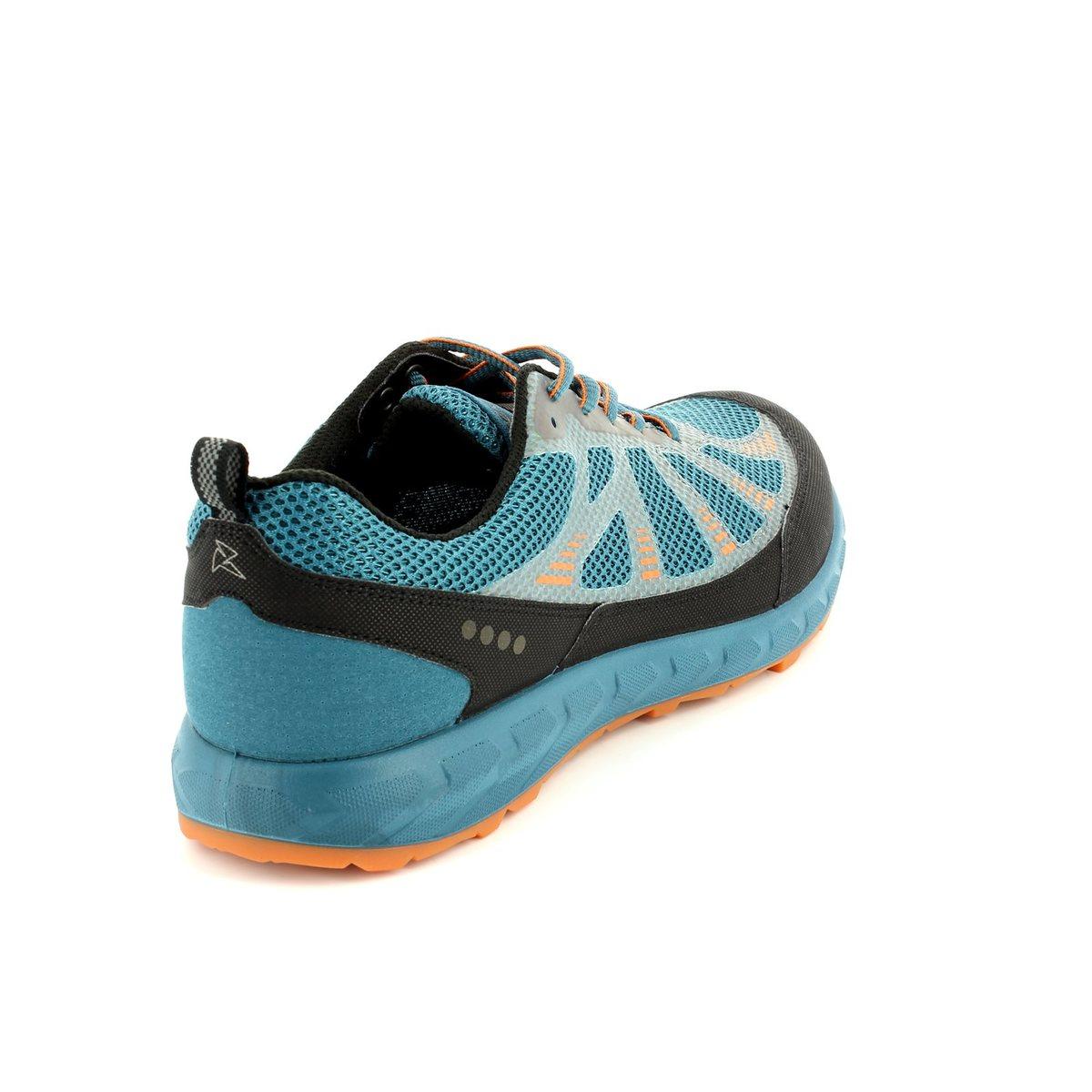 ecco terratrail 803504 59427 petrol blue trainers