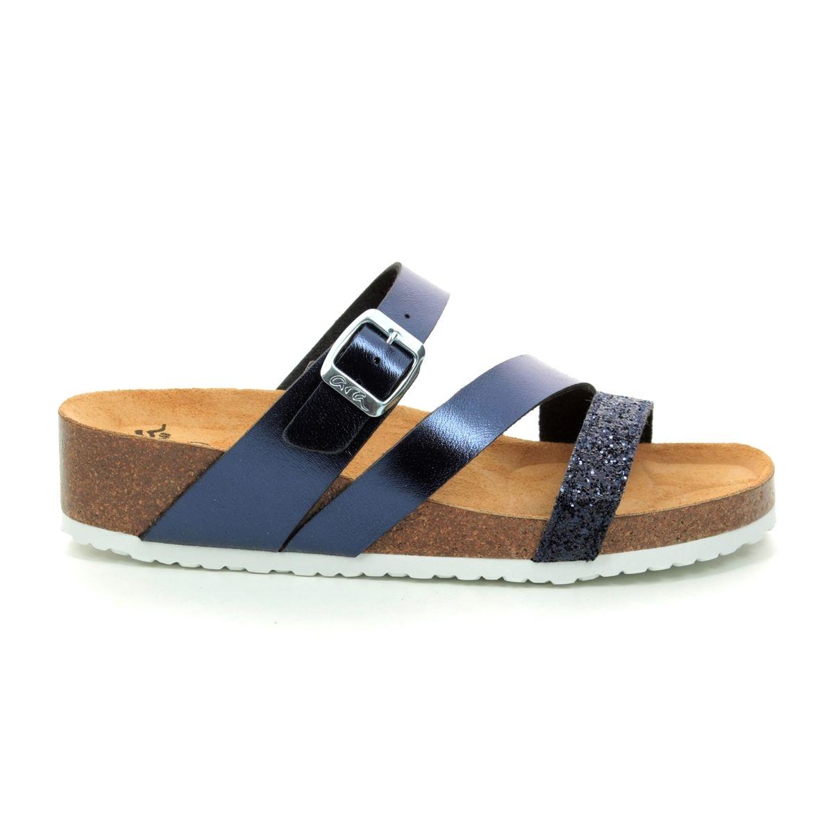 0367164629a Ara Slide Sandals - Navy multi - 17277 02 BALI STRAP