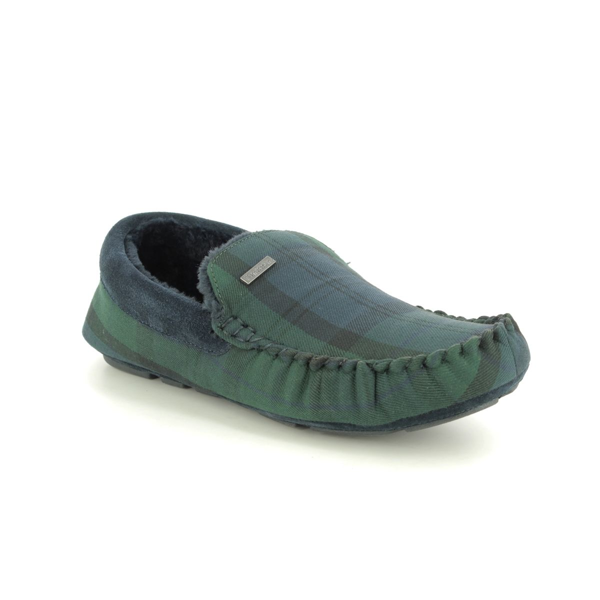Barbour Monty MSL0001-NY91 Navy slippers