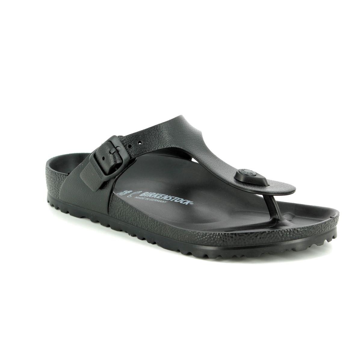 5a7041322e4d Birkenstock Toe Post Sandals - Black - 0128201 GIZEH EVA