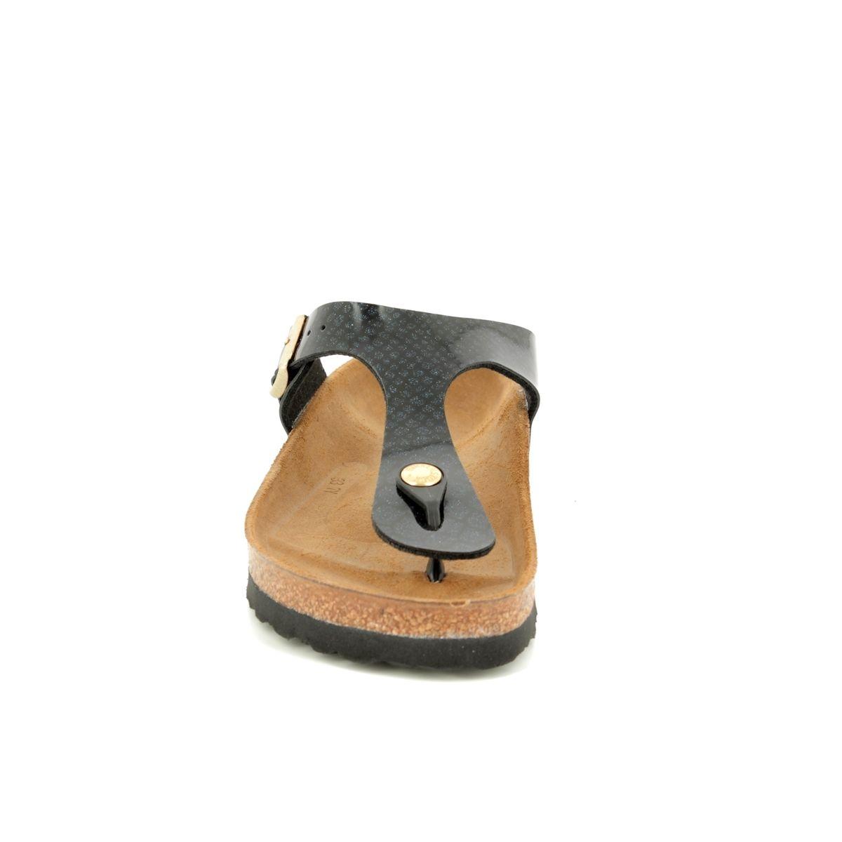 87905d378cba Birkenstock Toe Post Sandals - Black patent - 1009114 GIZEH MAGIC SNAKE
