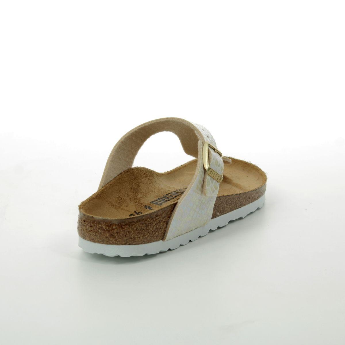 fb35be07972 Birkenstock Toe Post Sandals - Beige - 0847433 GIZEH SHINY SNAKE CREAM