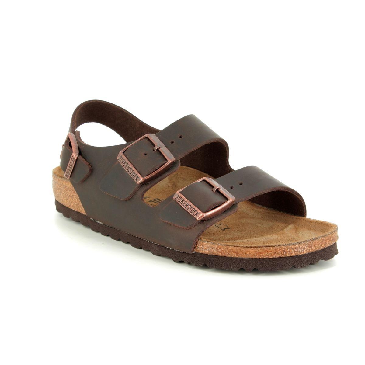 c38940fb5da5 Birkenstock Sandals - Brown leather - 0034873 MILANO HABANA OILED LEATHER
