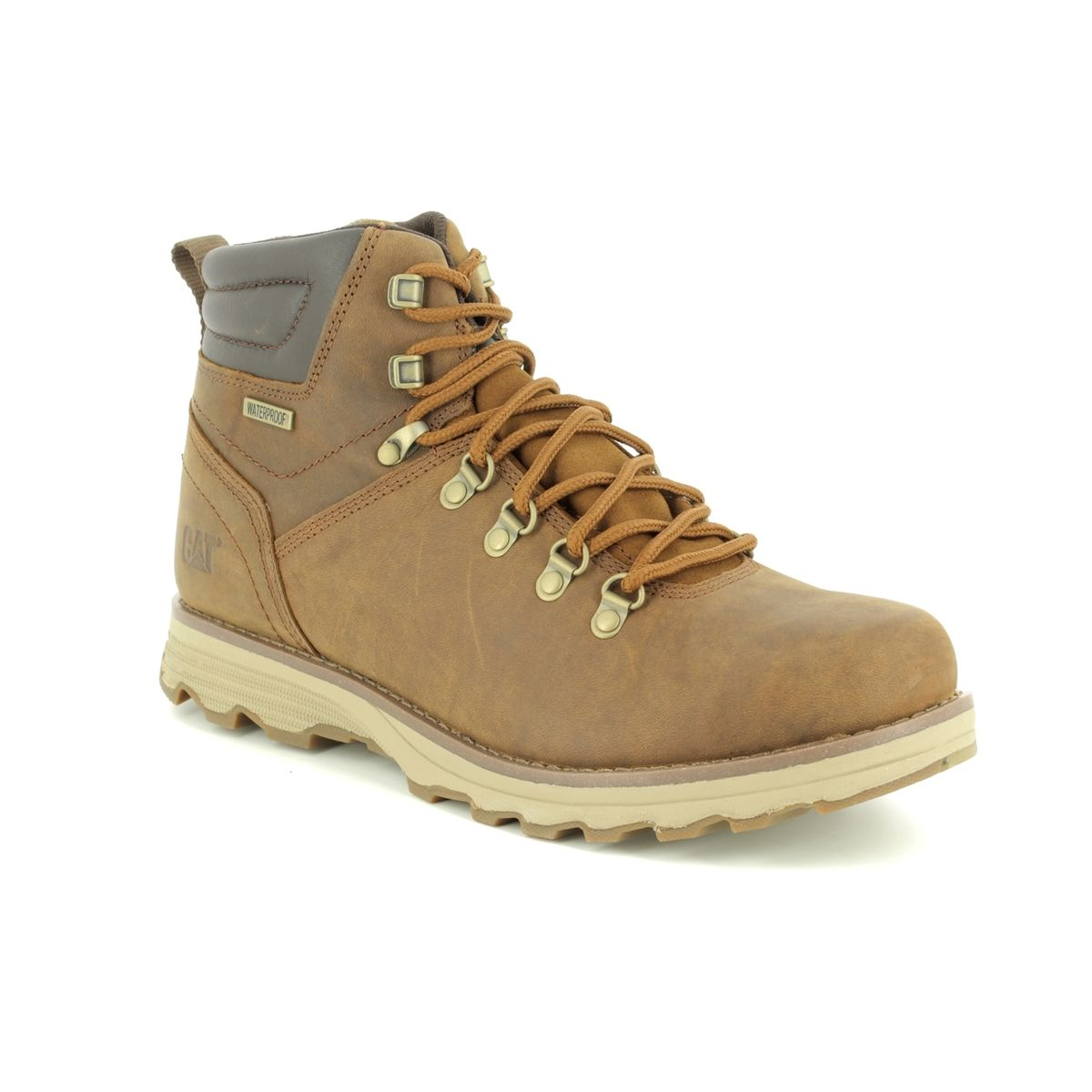 6242a7908280 CAT Boots - Brown leather - P720692  SIRE WP