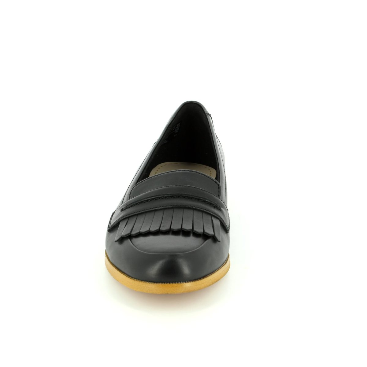 Clarks Andora Crush D Fit Black Loafers Island Shoes Slip On Mocasine Casual 2715 44d