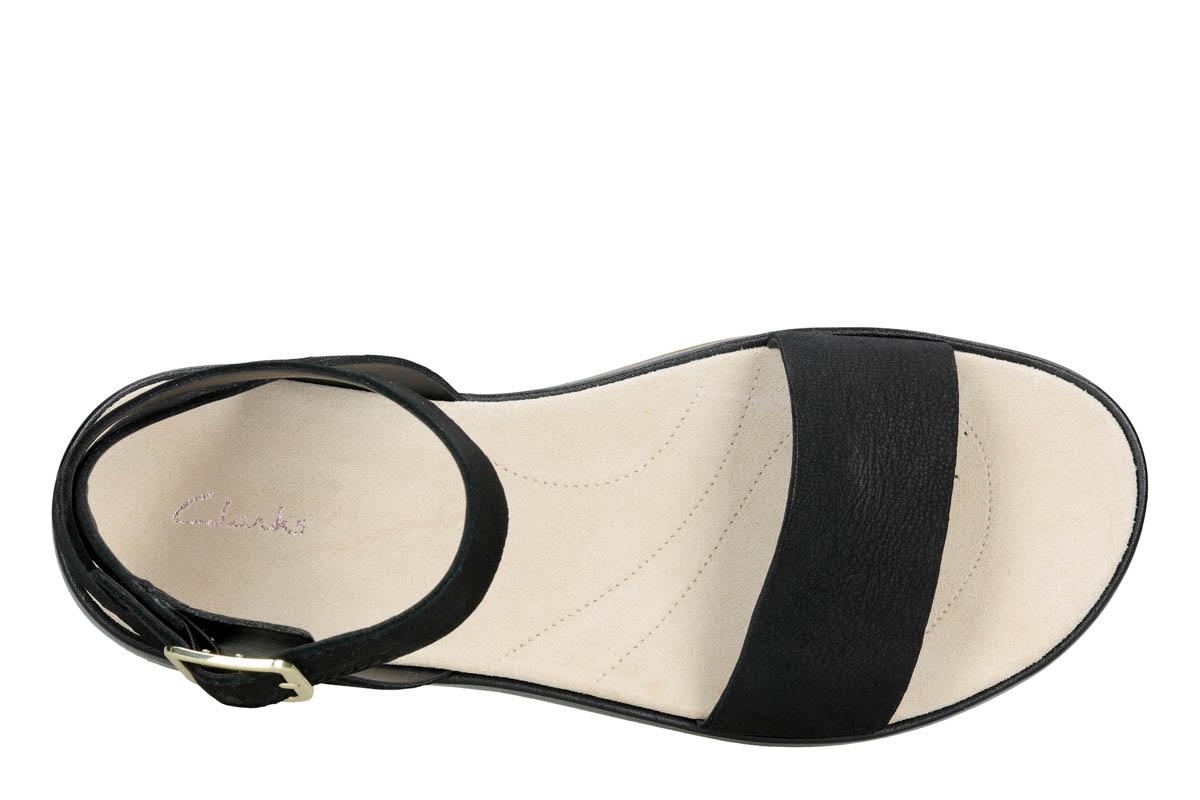 3c27710178d7 Clarks Flat Sandals - Black nubuck - 413504D BOTANIC IVY