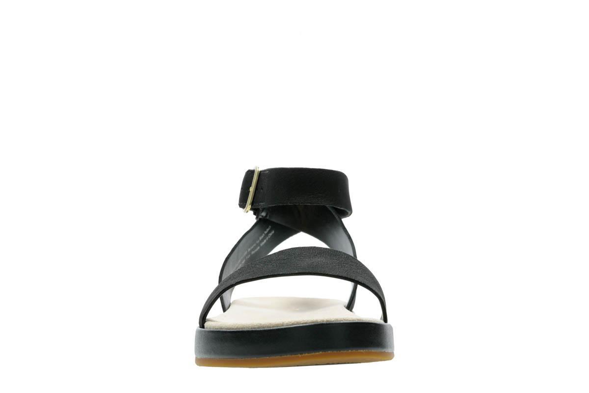 93707e66bc2 Clarks Flat Sandals - Black nubuck - 413504D BOTANIC IVY