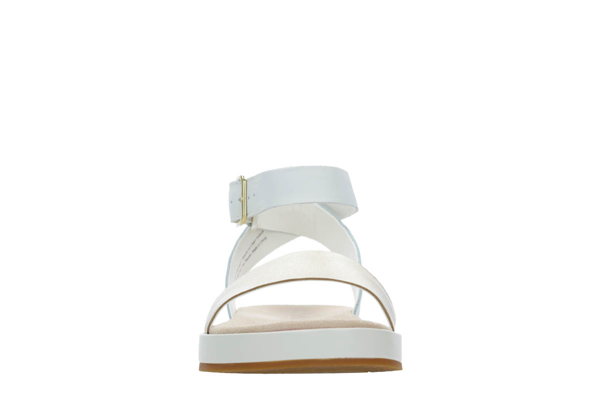9f4a776b362c Clarks Flat Sandals - White - 392374D BOTANIC IVY