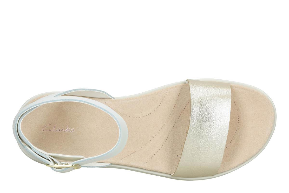 156f6cb6531 Clarks Flat Sandals - White - 392374D BOTANIC IVY
