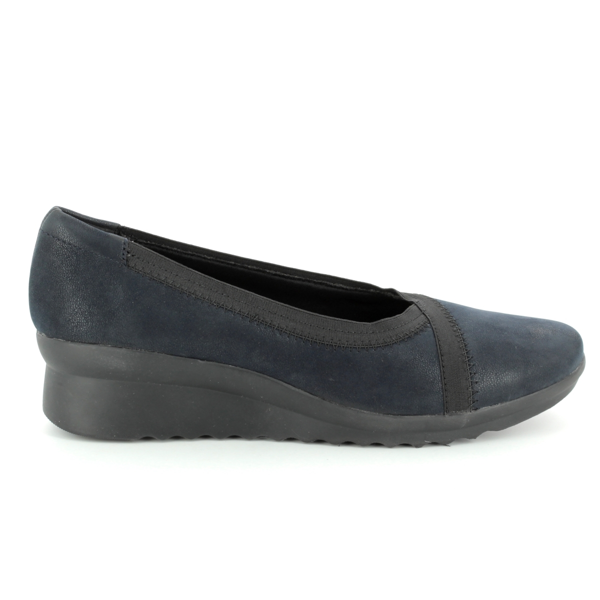 7a142685f6e3 Clarks Wedge Shoes - Navy - 3202 34D CADDELL DASH