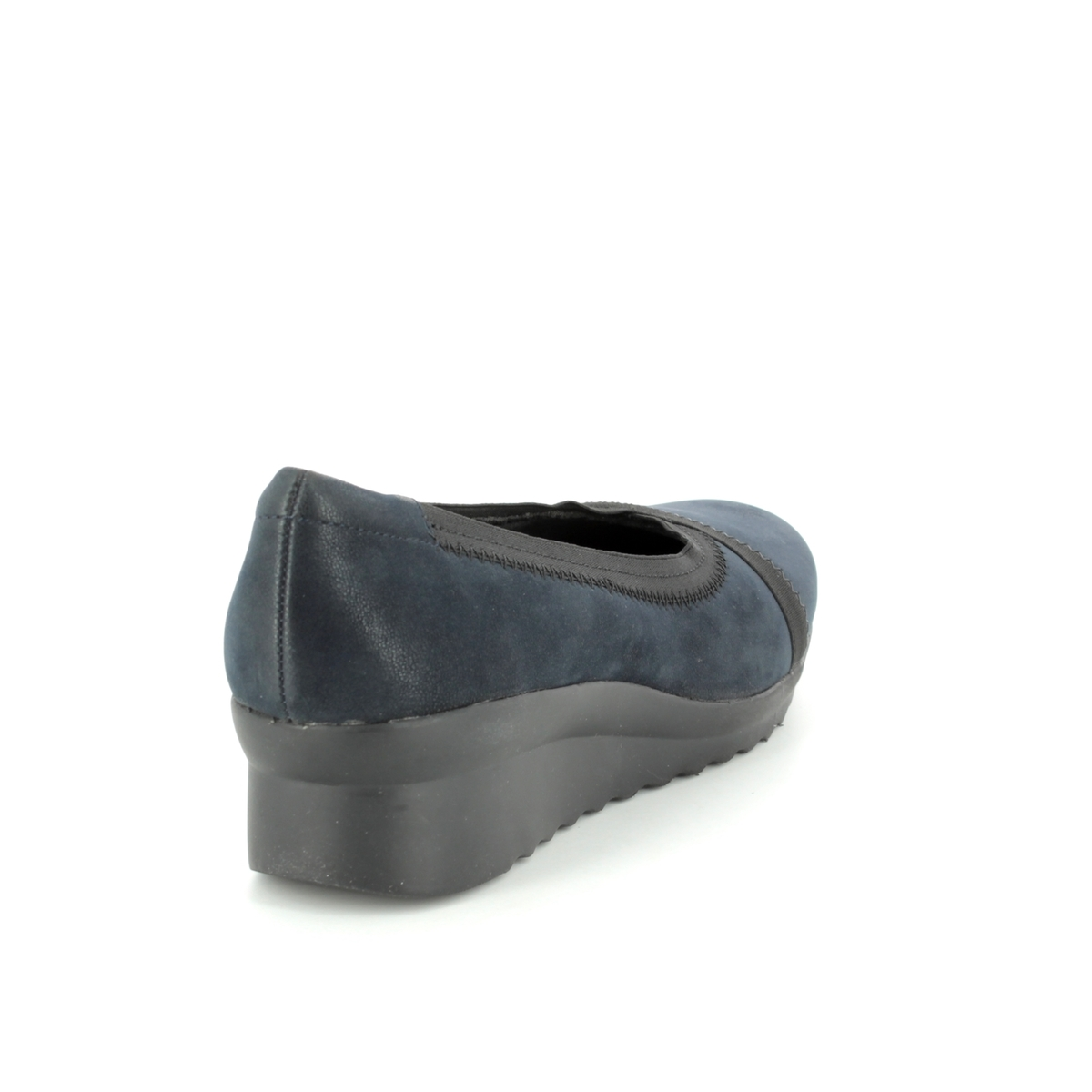 016930d0273 Clarks Wedge Shoes - Navy - 3202 34D CADDELL DASH