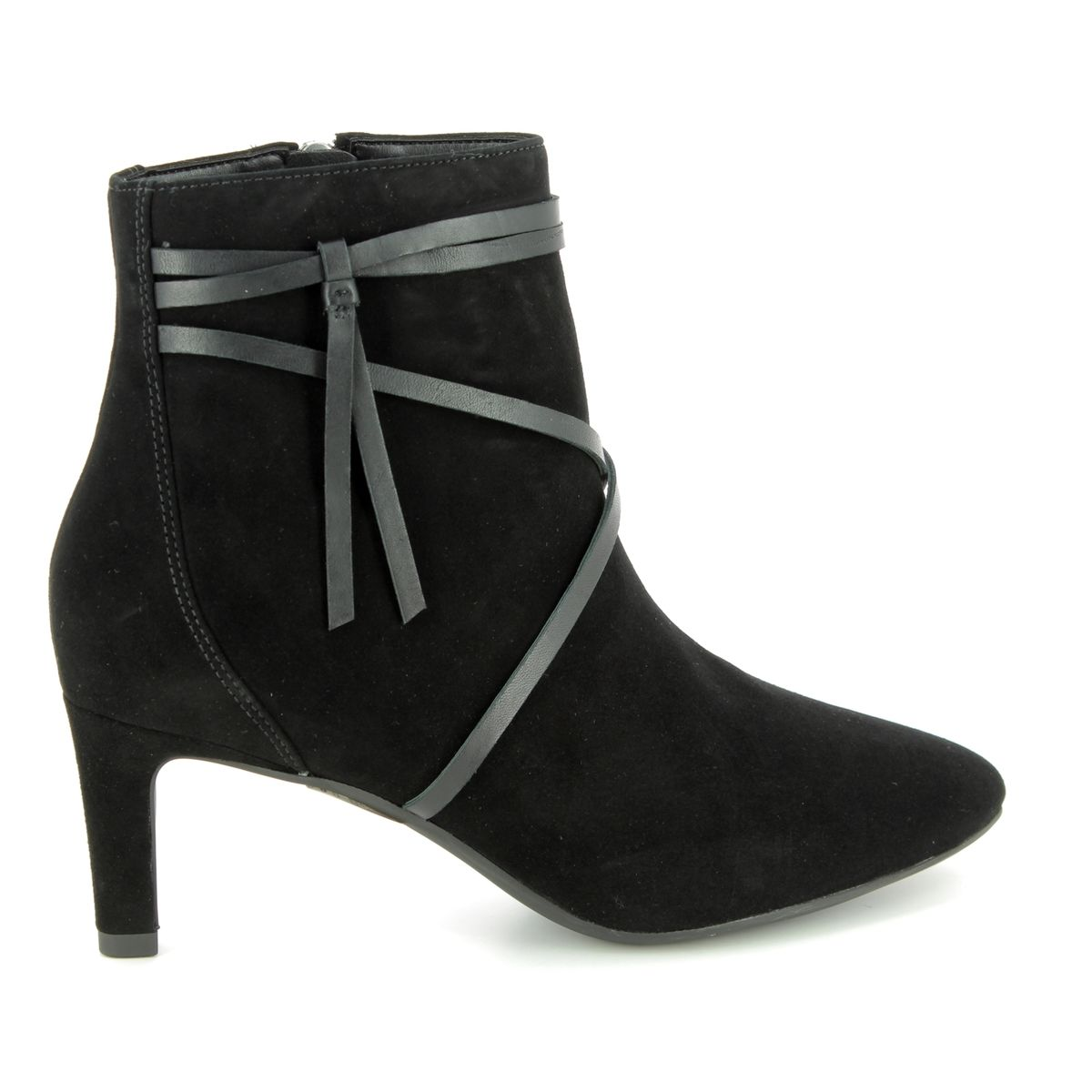 84b3f14ff Clarks Ankle Boots - Black suede or snake - 3669 74D CALLA ASTER