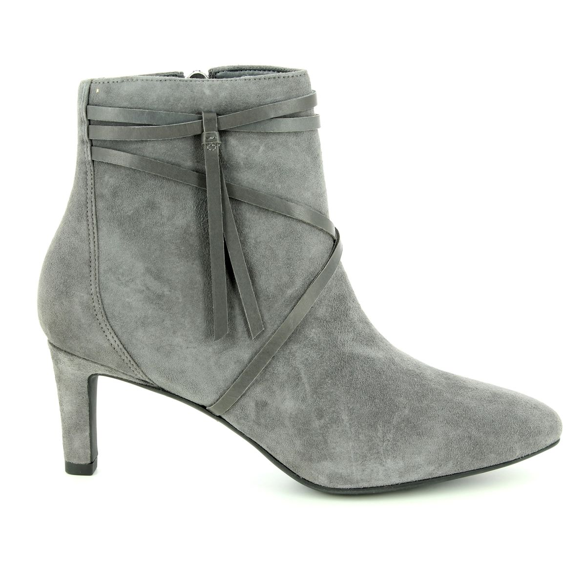 567f374cd Clarks Ankle Boots - Grey suede - 3636 94D CALLA ASTER