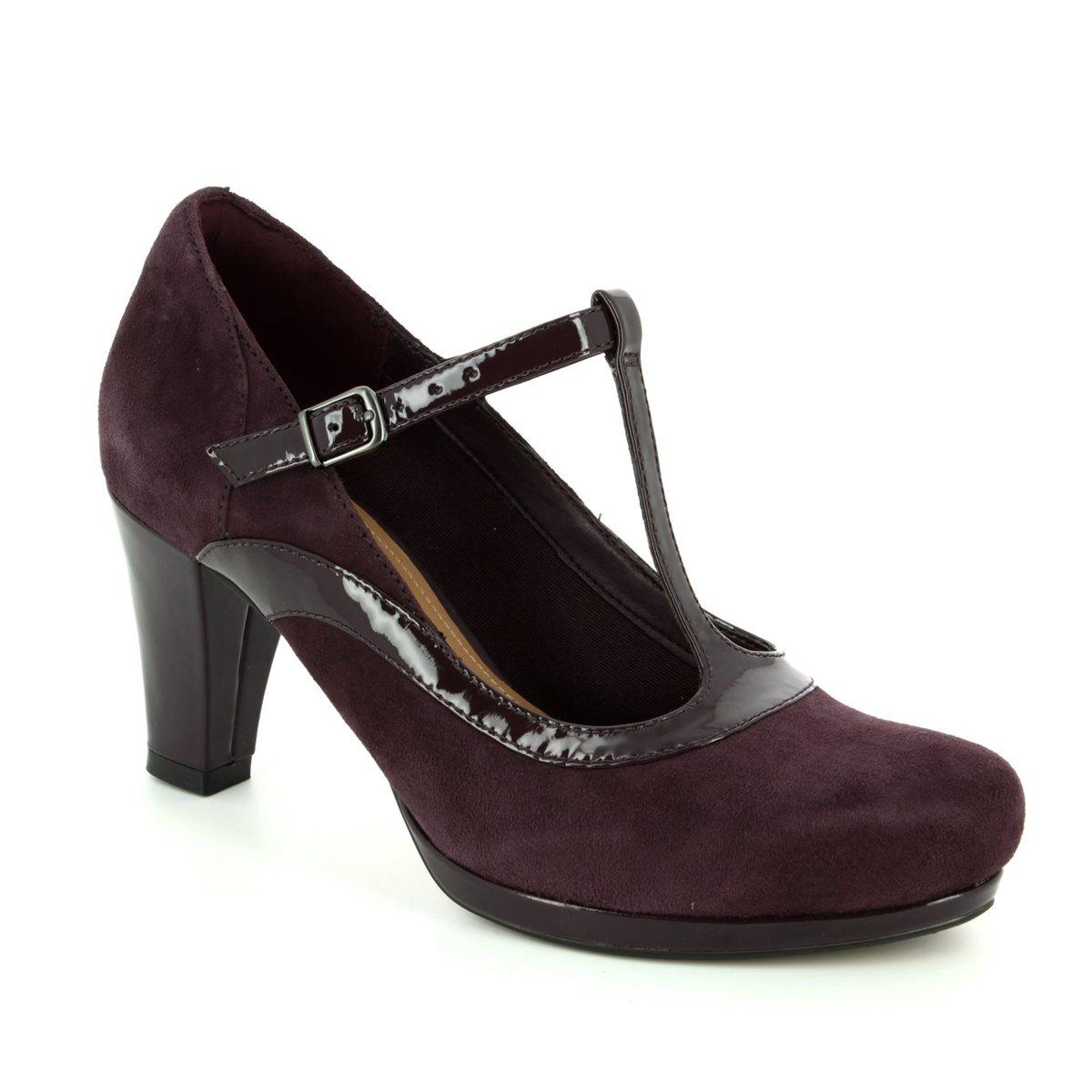 fb98417c7c92a Clarks High-heeled Shoes - Aubergine - 2882/14D CHORUS PITCH