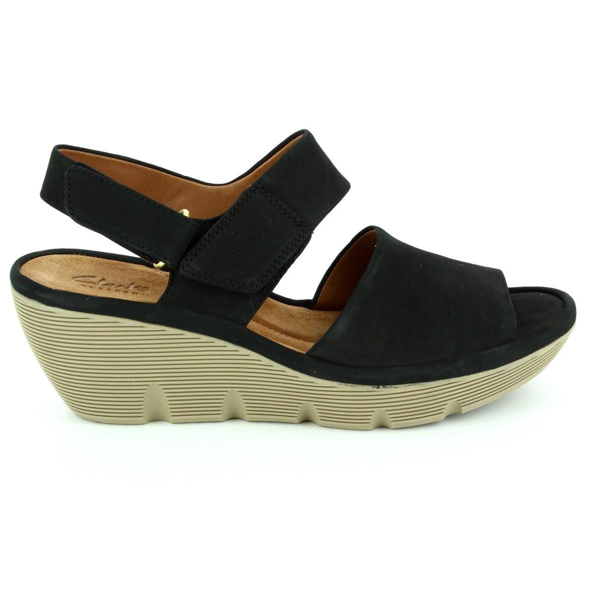 a34d3999dde Clarks Sandals - Black nubuck - 2428 04D CLARENE ALLURE