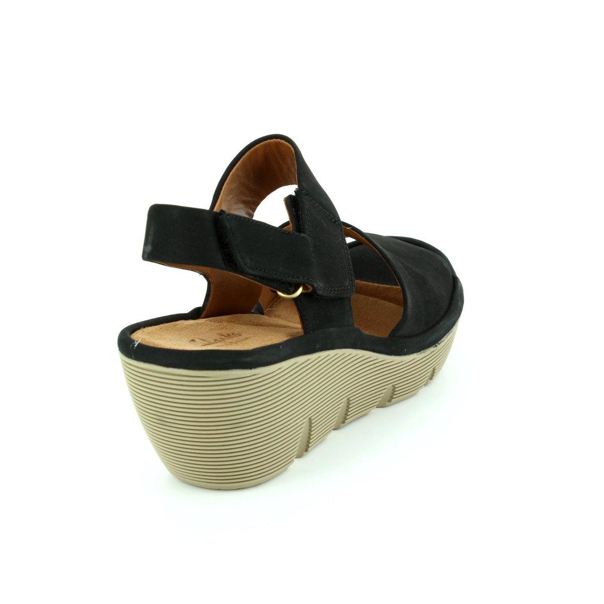 34a5e26b57a Clarks Sandals - Black nubuck - 2428 04D CLARENE ALLURE