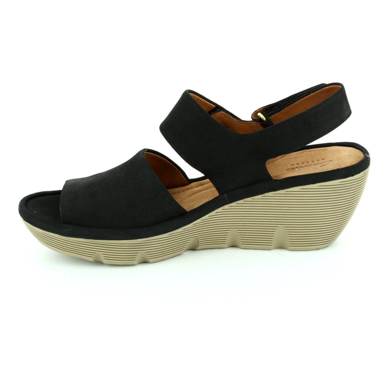 8d7aa5c0add Clarks Sandals - Black nubuck - 2428 04D CLARENE ALLURE