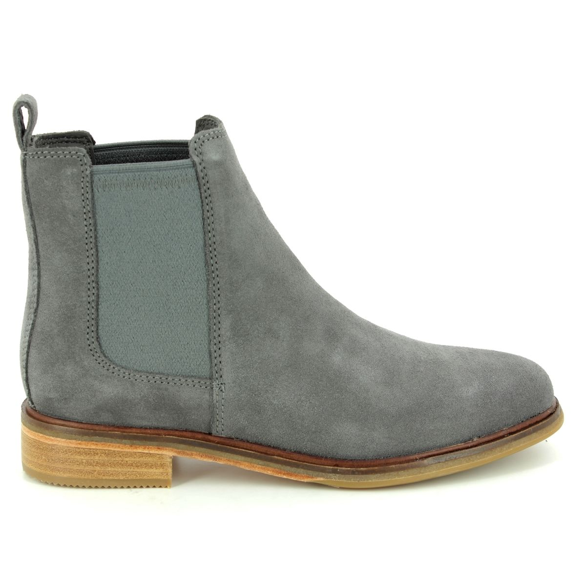 dcc0a01bcdc18 Clarks Chelsea Boots - Grey suede - 3672/14D CLARKDALE ARLO