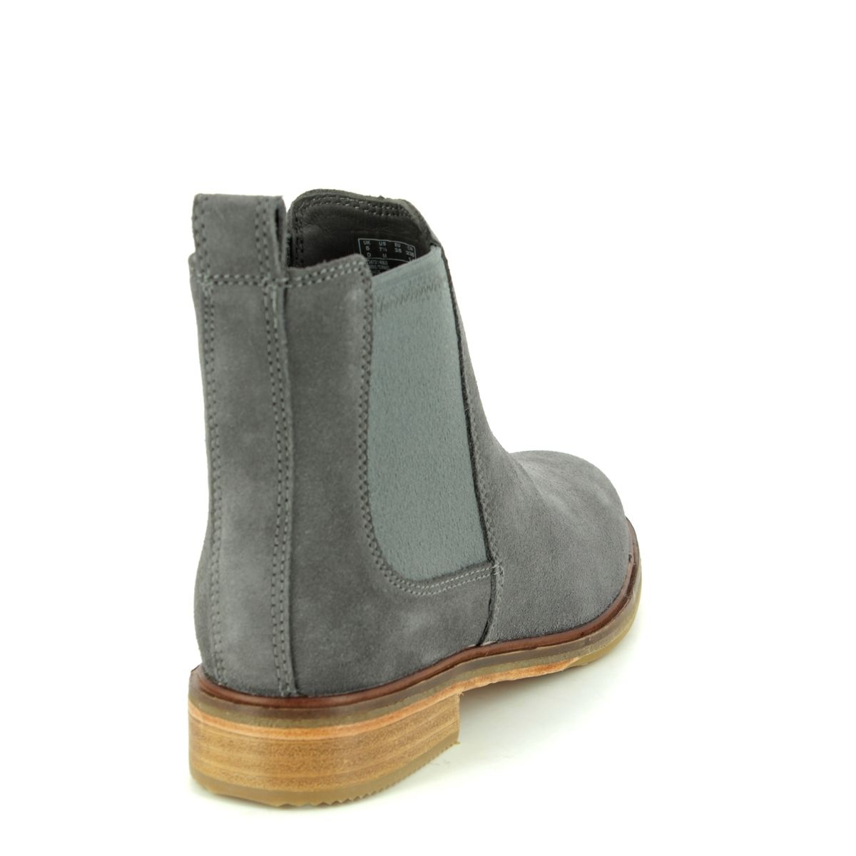 640b3920bfdd Clarks Chelsea Boots - Grey suede - 3672 14D CLARKDALE ARLO