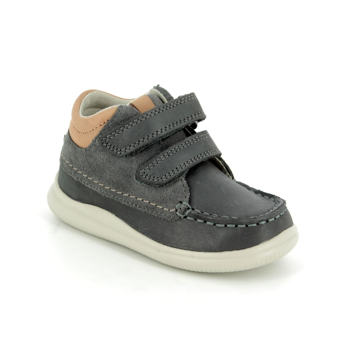 96fa76230f0b Clarks First Shoes - Grey matt leather - 3501 56F CLOUD TUKTU