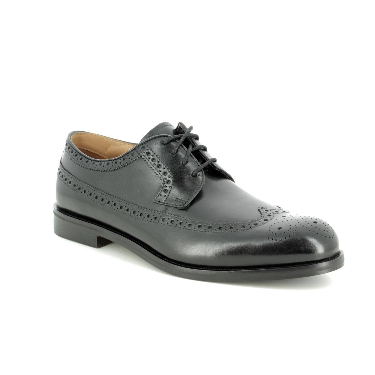 e7eee642c8 Clarks Brogues - Black leather - 193768H COLING LIMIT