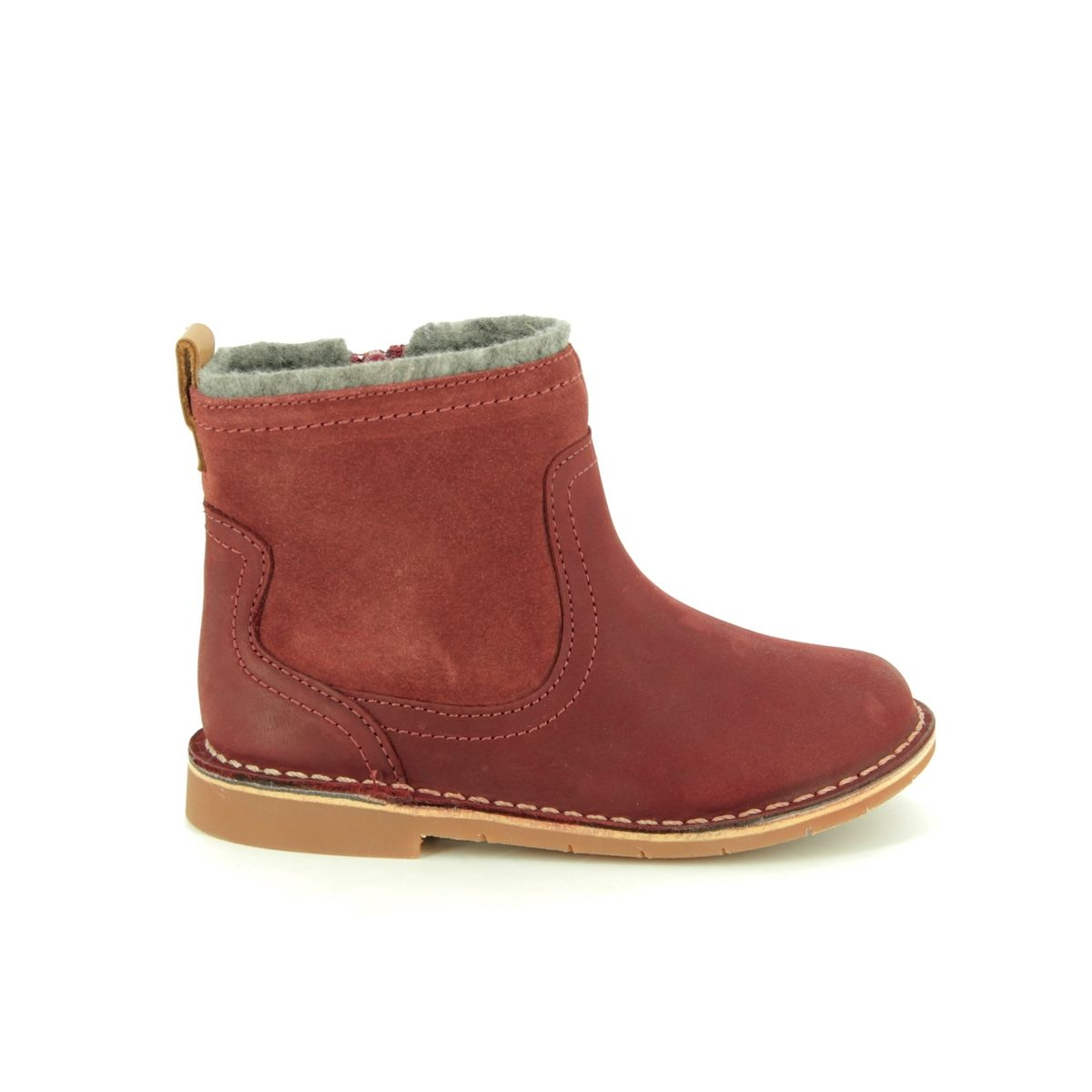 Clarks Comet Frost T F Fit Red leather