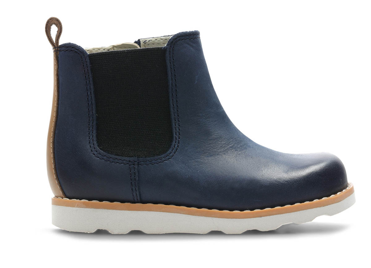 1c678b62808f0 Clarks First Shoes - Navy leather - 3714/57G CROWN HALO